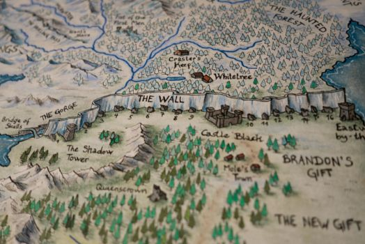 THE WALL (Hand-Drawn Westeros Map Detail) by Klaradox