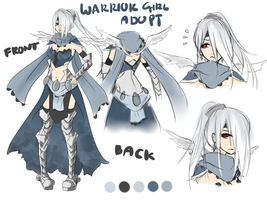 Warrior Girl Adoptable [CLOSED] by Artemis-adopties