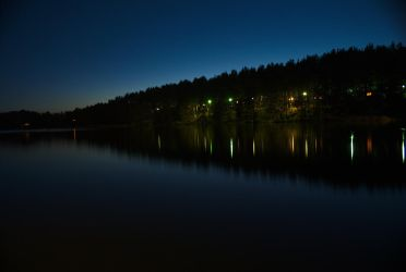 Lake at night by elgregorPL