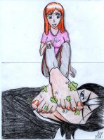 Orihime Smelling by S0lst1c3