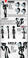 Mime and Smile reference sheet by TFulmi