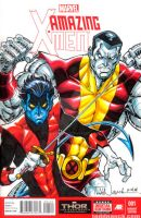 Nightcrawler and Colossus by ToddNauck