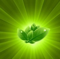 Green-Light-Burst-Abstract-Background by vectorbackgrounds