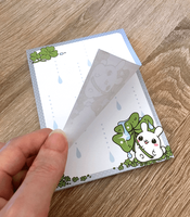 Puddle Bunnies Rain Memo Pad by celesse