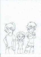 The Kaula siblings (uncolored) by XSreiki772