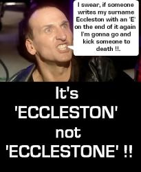 Angry Eccleston by DoctorWhoOne