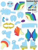 Rainbow Dash Gala Printout by FyreWytch