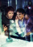 Science Bros COmmission by Brilcrist