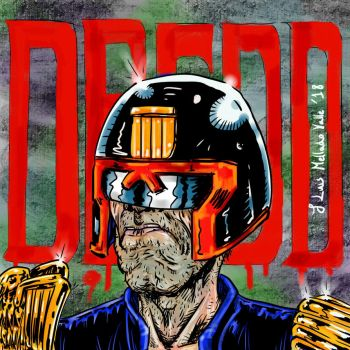 Judge Dredd portrait fan art by JLMelladoValle