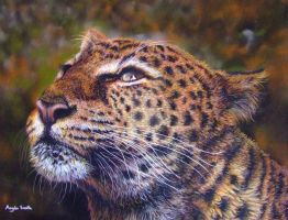Leopard (pastels) by AngelaMaySmith