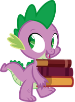 Spike - Carrying books by J5A4