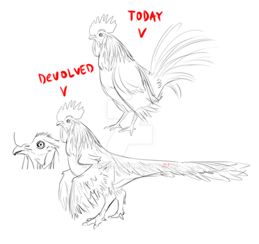 chicken are dinosaurs! by Snifer25