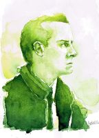 A Study in Watercolor - Jim Moriarty by Gohush
