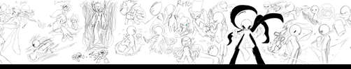 A very horizontally long doodle of RHGs!!! by SugarRatio