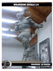 Wolwerine 5 by rieraescultura-art
