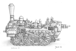 B1 Steam Battle Engine by JanBoruta