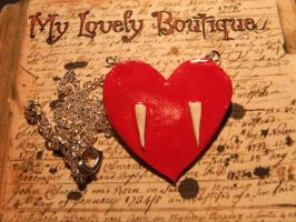 Fanged Necklace by TheLovelyBoutique