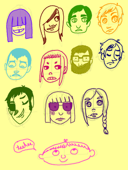 a bunch of faces by amarz