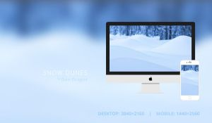 Snow Dunes Wallpaper by dandragos