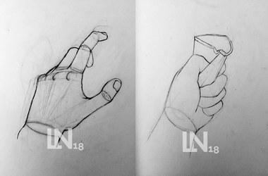 Unfinished hand drawings for my portfolio by LudicrousNostalgia