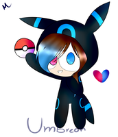 me as shiny Umbreon by mikitwiki