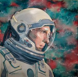 Interstellar (watercolor illustration) by Trunnec