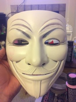 V Mask Progress 3 by Ninlhil