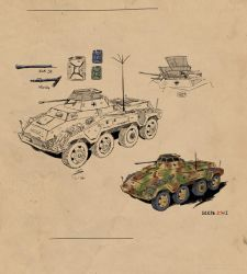 SdKfz 234/1 by Fisher22