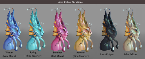 Aeox Colour Variations by TheVerdantHare