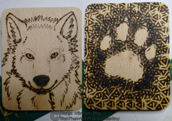 Wolf Woodburning by RonTheWolf