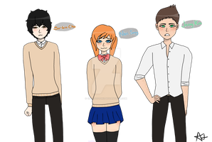 New ocs for small web comic / manga by ChocoOzorii