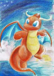 Dragonite (crayons) by Linda-98