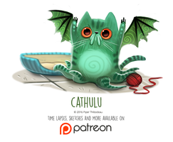 Daily Paint 1457. Cathulu by Cryptid-Creations