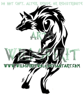 Tribal Set - Alert Wolf Design by WildSpiritWolf