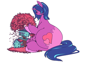 Cee and Tea, Sittin' in a Tree by chibiBiscuit