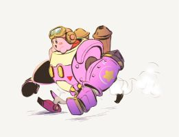 Kirby : Planet Robobot by ClydeWuts