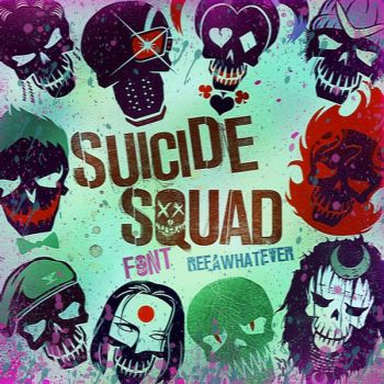Font Pack 1 - Suicide Squad by reeawhatever