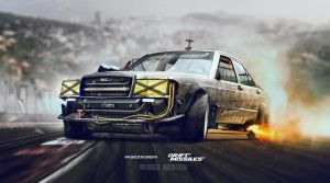 Drift missile Mercedes w201 by yasiddesign