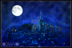 Moonlit Castle by kwhammes