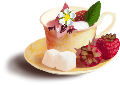 Strawberry tea by Martith