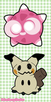 Minior and Mimikyu