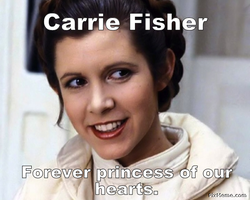 RIP Carrie Fisher by EsmeAmelia