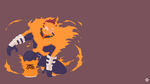 Endeavor|Boku no Hero Academia|Minimalist by Darkfate17