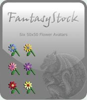 Free Flower Avatars Zip Pack by FantasyStock