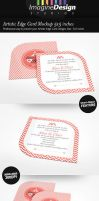 Artistic Edge Card Mockup 5x5 inches by idesignstudio