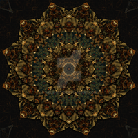 Kaleidoscope Fractal Mandala by WelshPixie