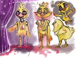 Five Nights at Freddy's- Chica sketches by StaticDragon1