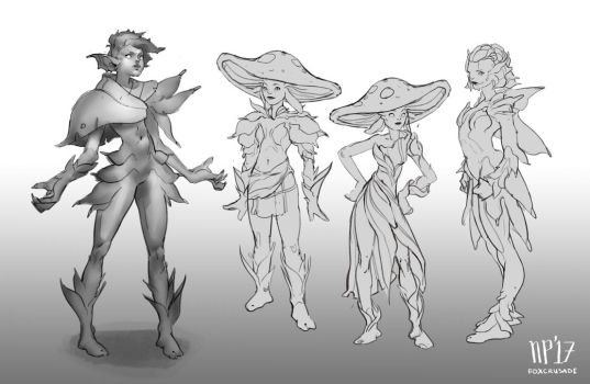 Plant girl iterations 2 by foxcrusade