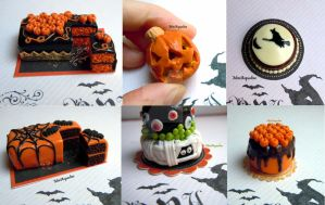 Halloween cakes and carved pumpkins coming soon by miniacquoline