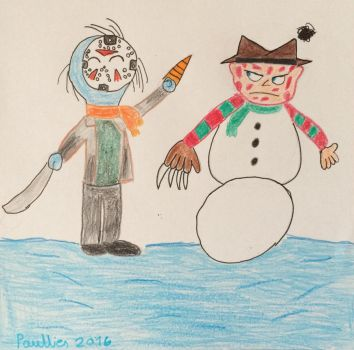 AT Making a Snowman Freddy by paullies
